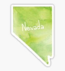 Green Watercolor Nevada Sticker