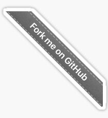 Fork me on Github ribbon (Gray) Sticker