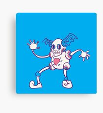 Mr. Mime Popmuerto | Pokemon & Day of The Dead Mashup Canvas Print