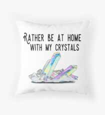 Crystal Lovers Throw Pillow
