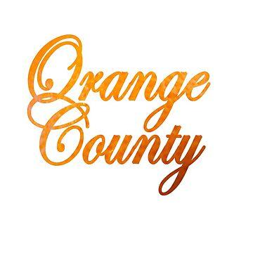 Orange County Written in Orange by heby73