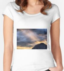 Sunset at the Austrian Alps Women's Fitted Scoop T-Shirt