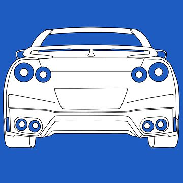 Rear Tail Light Tee / Sticker for R35 Nissan GTR enthusiasts - White by TheStickerLab