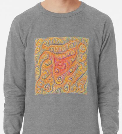 Orange #DeepDream Lightweight Sweatshirt