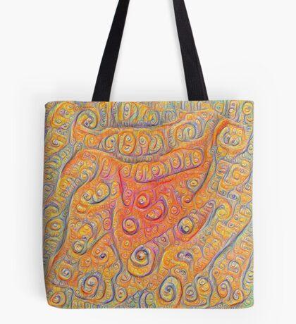 Orange #DeepDream Tote Bag