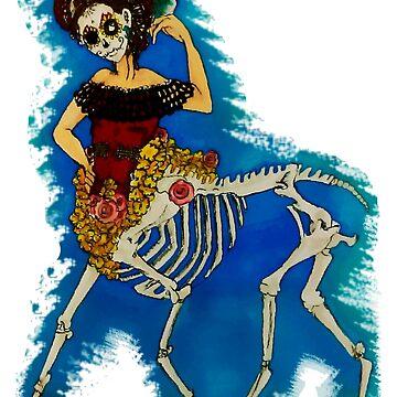 Dia De Los Muertos centaur by Lazymeat