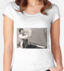 Robert Downey Jr.  // Less Than Zero Women's Fitted Scoop T-Shirt
