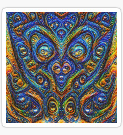 Summer night #DeepDream B Sticker