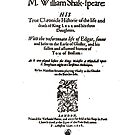 Shakespeare King Lear Frontpiece - Simple Black Version by Incognita Enterprises