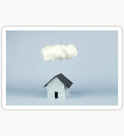A cloud over the house Sticker