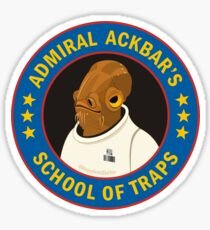 Admiral Ackbar's School of Traps Sticker