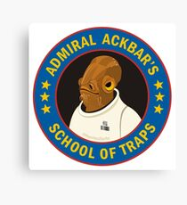 Admiral Ackbar's School of Traps Canvas Print