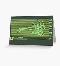 Resident Evil Green Herb Greeting Card