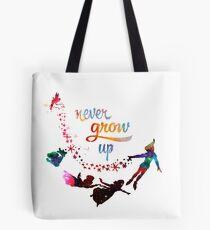 Never Grow Up Nebula Galaxy  Tote Bag