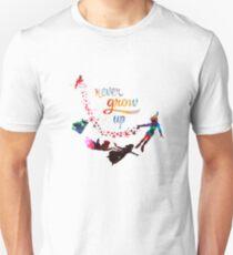 Never Grow Up Nebula Galaxy  Unisex T-Shirt