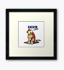 Calvin and Hobbes Hugs  Framed Print