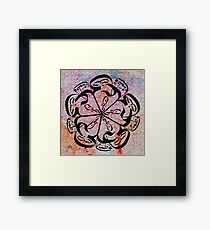 panjtan pak flower Water colour Framed Print