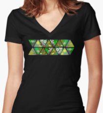 Heath Myrtle, Wattle, Wattlebird Fitted V-Neck T-Shirt