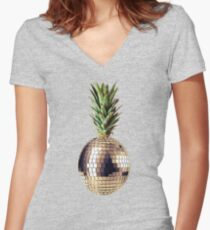 Ananas party (pineapple) Women's Fitted V-Neck T-Shirt