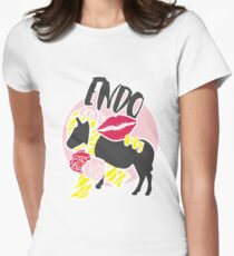 Endo can Kiss my Ass Women's Fitted T-Shirt