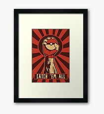 POKEMON PROPAGANDA: CATCH 'EM ALL Framed Print