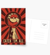 POKEMON PROPAGANDA: FANGEN SIE ALLE EM Postkarten