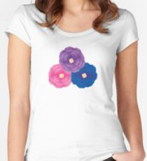 Cute Flowers Women's Fitted Scoop T-Shirt