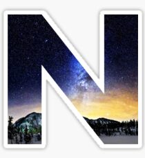 N Star Night Sticker