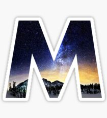 M Star Night Sticker