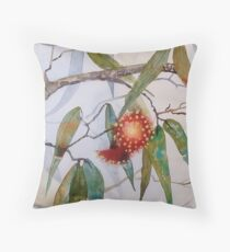 Australian Eucaluptus Flowers Throw Pillow