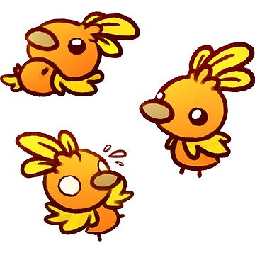 Tumbling Torchic Stickers - Set 1 by RaspberryMoon