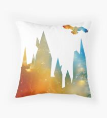 Castle with Owl Throw Pillow