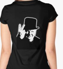 V sign, Victory, V, 1943, WWII, Winston, Churchill, British prime minister,  Women's Fitted Scoop T-Shirt