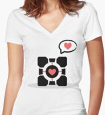 Your Companion <3 Women's Fitted V-Neck T-Shirt