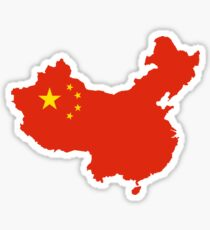 China Flag Map Sticker