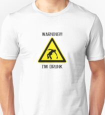 Drunk Warning Beer Funny T shirt Unisex T-Shirt