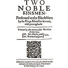 Shakespeare The Two Noble Kinsmen Frontpiece - Simple Black Text by Incognita Enterprises