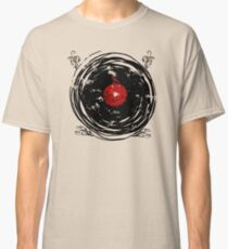Enchanting Vinyl Records Vintage Twirls Classic T-Shirt