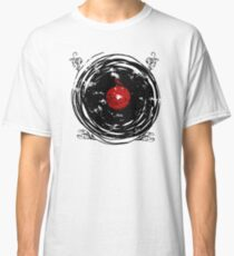 Enchanting Vinyl Records Vintage Twirls Classic T-Shirt