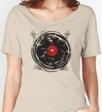 Enchanting Vinyl Records Vintage Twirls Women's Relaxed Fit T-Shirt