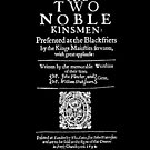 Shakespeare The Two Noble Kinsmen Frontpiece - Simple White Text by Incognita Enterprises