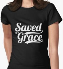 Saved By Grace - Christian Gifts Womens Fitted T-Shirt