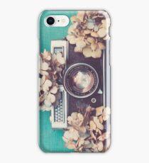 Camera & Hydrangea iPhone Case/Skin