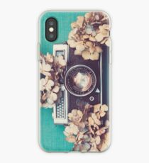 Camera & Hydrangea iPhone Case