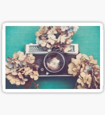 Camera & Hydrangea Sticker