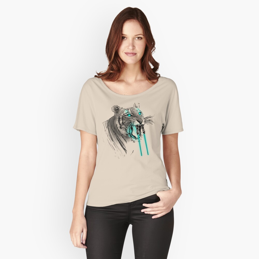Saber-toothed Tiger Relaxed Fit T-Shirt