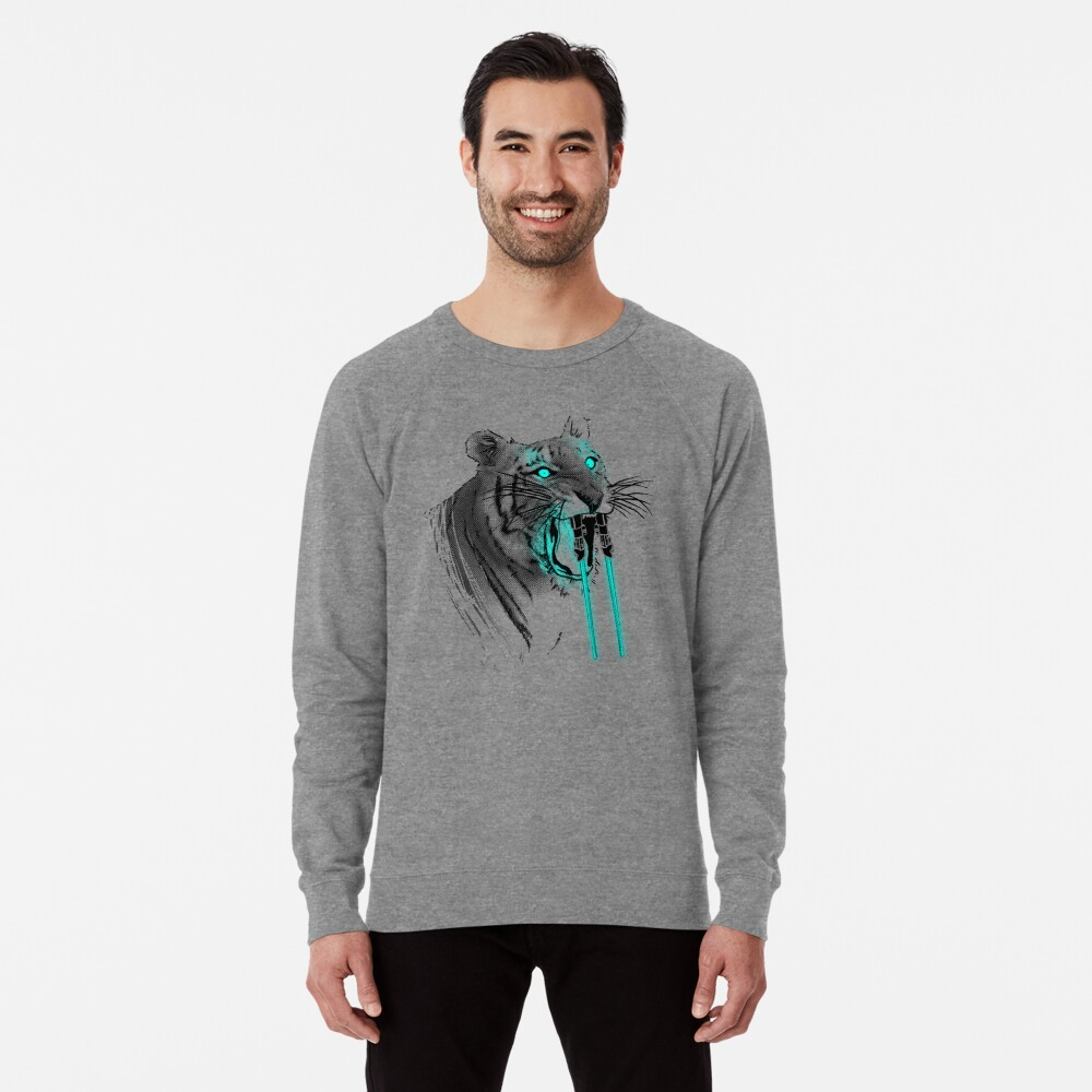 Saber-toothed Tiger Lightweight Sweatshirt