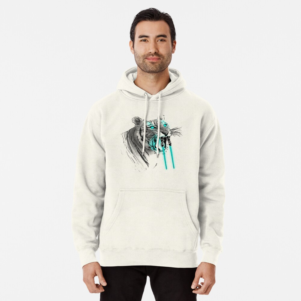 Saber-toothed Tiger Pullover Hoodie