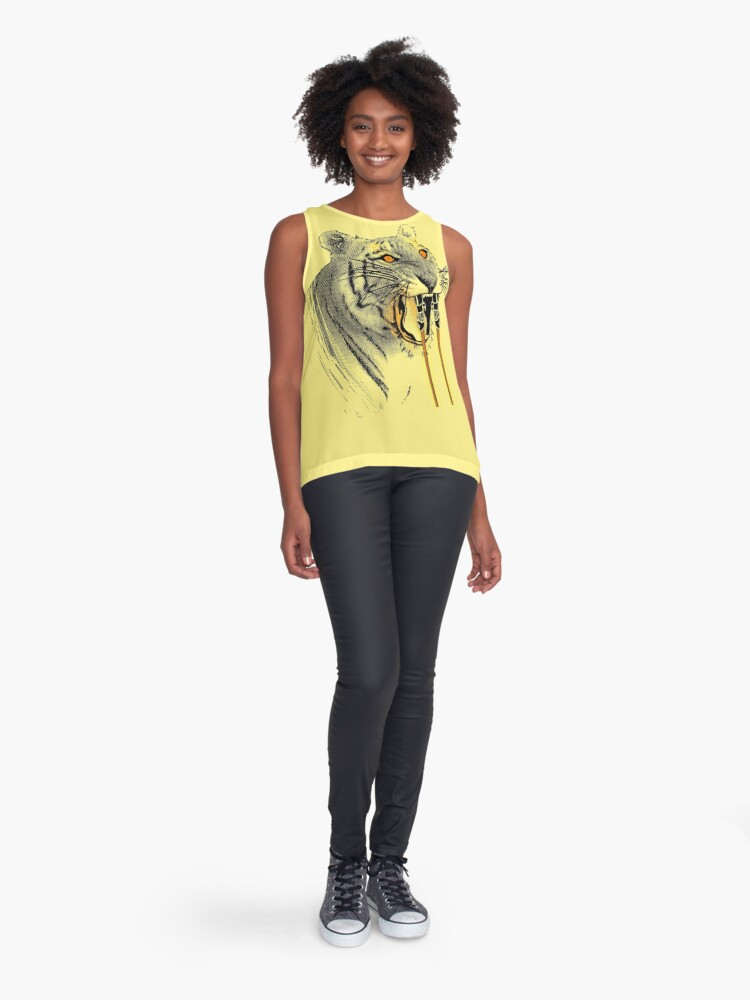 Alternate view of Saber-toothed Tiger Sleeveless Top