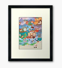 Miyazaki Fresco  Framed Print